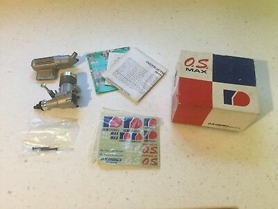 OS Max 25 FP-S model engine in box with instructions and stickers