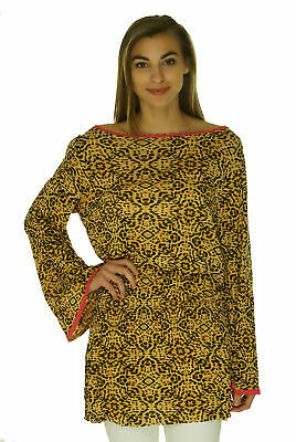 62cb2bd461094 Sofia by ViX Women's Agatha Short Dress Tunic Cover up Brown Black Print $98