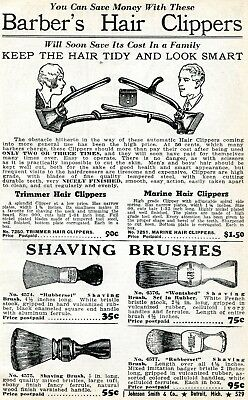 1941 small Print Ad of Trimmer & Marine Barber's Hair Clippers & Shaving Brushes