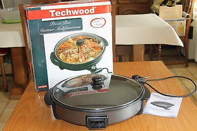 FOUR PIZZA PAN MULTIFONCTIONS Techwood TP-3815 Pizza Quiche Ragoût Paella Tajine