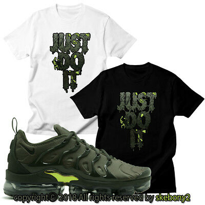 e913728ea7f NEW CUSTOM T SHIRT matching NIKE AIR VAPORMAX PLUS CLAY GREEN AVP 1-42-
