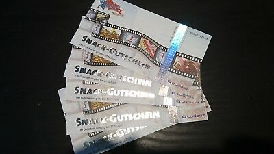 5 x MovieChoice SNACK-GUTSCHEIN -  für Cinemaxx, Cineplex, Cinestar etc