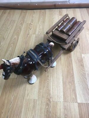 LARGE BESWICK STYLE SHIRE HORSE WITH WATNEYS ALE CART Only U.K. Shipping