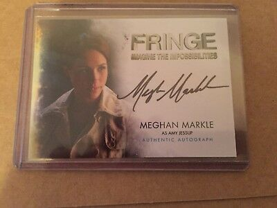 MEGHAN MARKLE AUTOGRAPH AUTO CARD FRINGE a16 HER ROYAL HIGHNESS DUCHESS SUSSEX