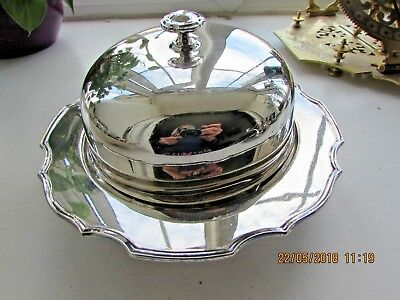 Edwardian Mappin and Webb Silver Plated Muffin Food Warmer Serving Dish
