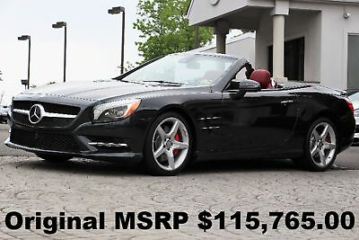 "Mercedes-Benz SL-Class SL550 Roadster 2015 MAGIC SKY CONTROL 19"" AMG Sport Wheels PKG DISTRONIC PLUS Magnetite Black"