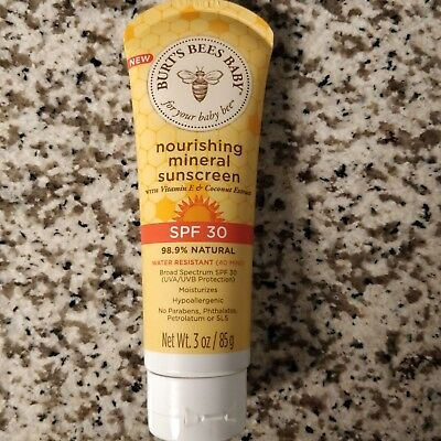 Burt's Bees Baby Nourishing Mineral Sunscreen, SPF 30 Water Resistant Baby - NEW