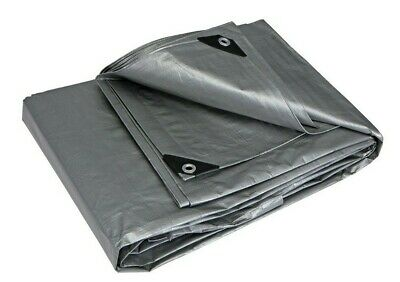 Silver Tarp Heavy Duty Weather Proof Reinforced Car Boat Swimming Pool Cover NEW