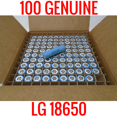 100 Lg 18650 Lgdas31865 2200Mah Cells Lithium Ion Batteries Powerwall Vape 90%