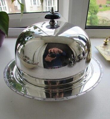 HB & H Art Deco Silver Plated Muffin Food Warmer Serving Dish