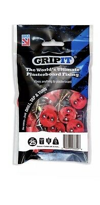 GripIt Red 18mm Plasterboard Fixings Pack of 25