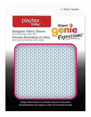 Playtex Diaper Genie Expressions Diaper Pail Fabric Sleeve, Blue Knit.