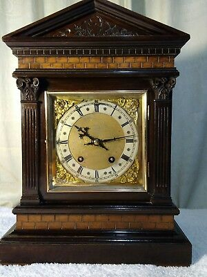 Quality antique bracket clock by Winterhalter and Hofmeier c. late 19c