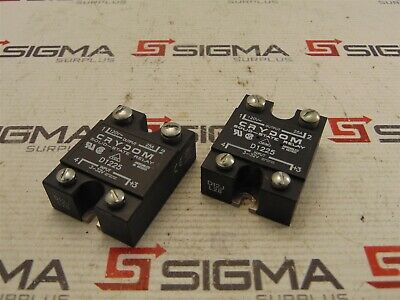 Crydom D1225 Solid-State Relay 120 VAC, 25 A Output, 3-32 VDC Input *Lot of 2*