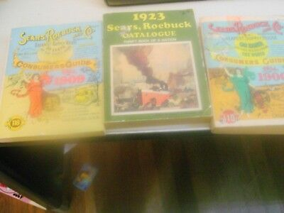 2 Vintage Sears Consumer Guides Books & 1 Vintage Sears Catalogue From Seventies