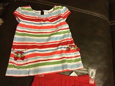 """Girls Gymboree vintage outfit size 3T red """"Strawberry Farm"""" with strawberries"""