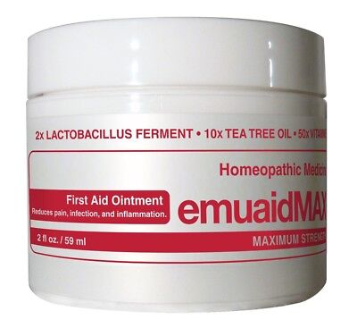 Emuaid MAX First Aid Ointment 2oz - Homeopathic Medicine + Surprise Sample