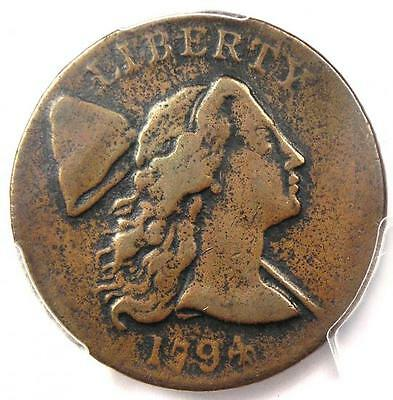 1794 Liberty Cap Large Cent 1C - Certified PCGS VF Details - Very Nice Look!