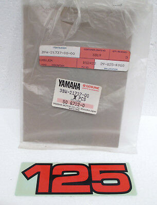 1982-1984 Yamaha YZ125 Side Cover Air Cleaner Emblem Decal 39W-21737-00-00 NOS
