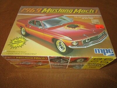 MPC Model Kit 69 Mustang Mach 1 1/25 Complete & Unbuilt Sealed