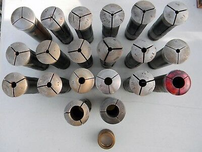 20 Piece Lot Machinist  Lathe Collets Hendey & Unmarked