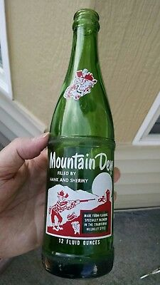Filled By Hank And Shermy Moutain Dew Bottle Acl Pop Good Condition