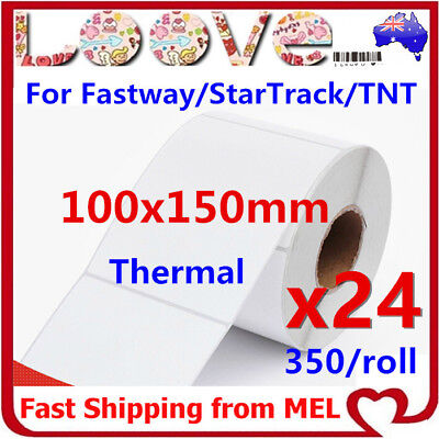 24x Thermal Direct Labels Roll 100 X 150mm Fastway EParcel Startrack Zebra SATO