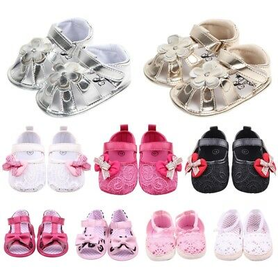 Baby Infant Kids Girl Boy Soft Sole Crib Sandals Toddler Newborn Sneakers Shoes