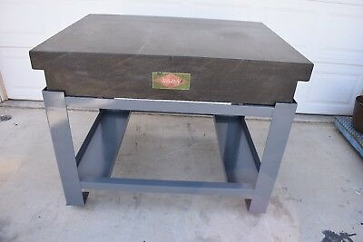 "Used Rahn Granite Surface Table With Stand 48"" X 36"" X 8"""
