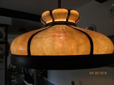 Vintage Tiffany Style Pool Table Light Very Old