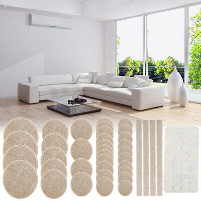 132 Piece Felt Furniture Floor Protector Pads Self Adhesive Round Heavy