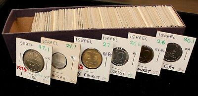 Mixed Israel Coin Lot: Collection of 100 XF - UNC Israeli Coins