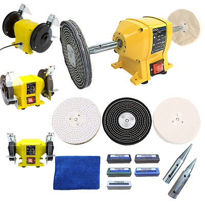 "150mm Bench Grinder Bench Polisher With 6"" Metal Polishing Kit Machine"