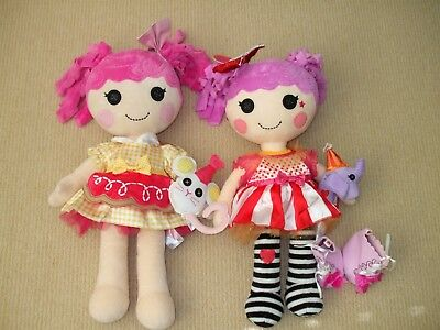Cute BUILD A BEAR Lalaloopsy Dolls x 2 in EUC