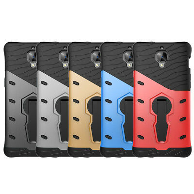 Shockproof Protection Hybird Back Phone Case Cover with Stand for One Plus 3