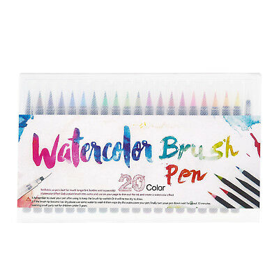 20Pcs Plastic Art Oil Watercolor Drawing Painting Sketch Manga Pens + Brush
