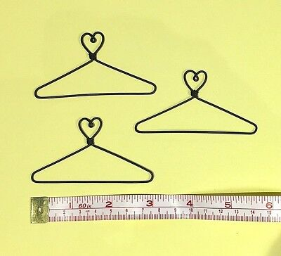 "12X  Mini Wire Coat Hangers  3"" (Heart on Top))"