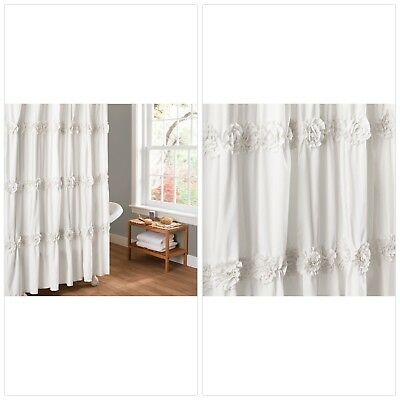 Lush Decor Darla Shower Curtain 72 By Inch Ivory Oh Decor Curtain