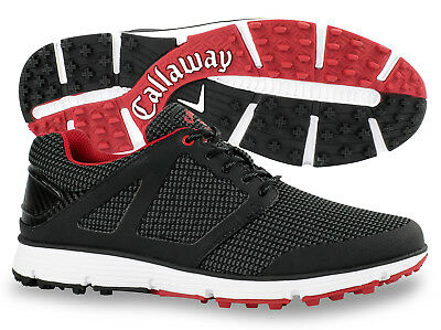 Callaway Men's Balboa Vent 2.0 Black/White/Red Golf Shoes - New 2018