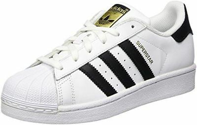 adidas Originals Superstar J Casual Low-Cut Basketball Sneaker (Big Kid), White/