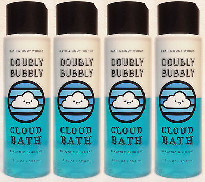 NEW! 4 Bath & Body Works ELECTRIC BLUE SKY Doubly Bubbly Cloud Bath 12 fl oz