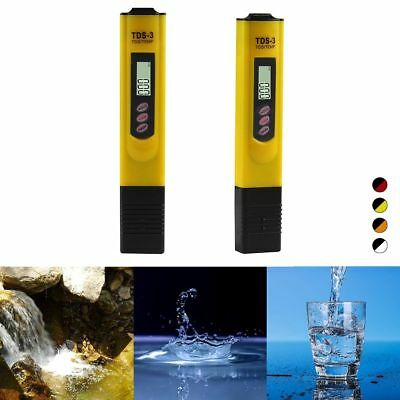 Digital TDS water quality testing pen Conductivity Tester Purity Filter PH Meter