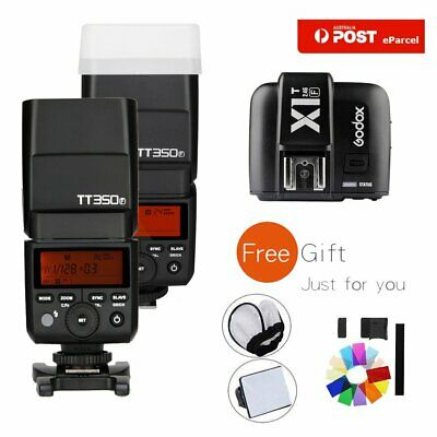 AU 2X Godox TT350F 2.4G TTL HSS Flash Speedlite Light+X1T-F Trigger For Fuji Kit