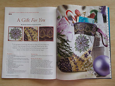 Machine Embroidery & Textile Art Vol 18 #7~Quilts~Coathangers~iPad Pouch~Xmas