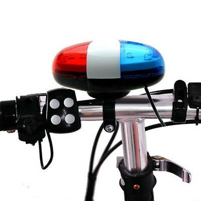 6 LED 4 Sounds Horn Bell Ring Police Car Light Trumpet For Bike Bicycle 2018