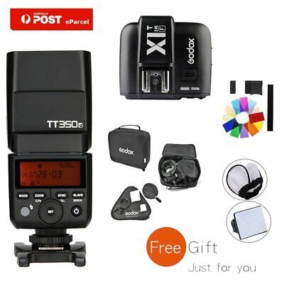 AU Godox TT350F 2.4G TTL Flash Speedlite + X1T-F Trigger For Fuji +60*60 Softbox