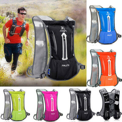 New Sports Backpack Hiking Hydration Pack Cycling Running Vest + 2L Water Packs