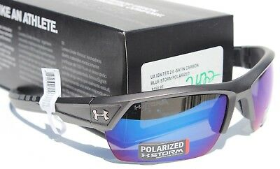 81e4b7c04e UNDER ARMOUR Igniter 2.0 POLARIZED Sunglasses Satin Carbon Blue Storm NEW   160