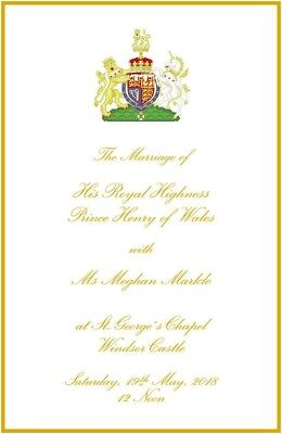 Royal Wedding - Meghan & Harry - Order of Service - 22 pages