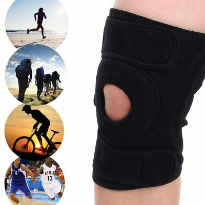 Black Neoprene Adjustable Open Knee Patella Tendon Support Brace Sleeve UK